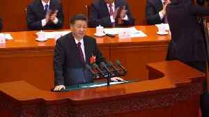 News video: China's president delivers nationalistic speech to Congress
