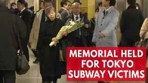 News video: 23 Years After Tokyo Subway Sarin Attack, Members Of Community Pay Their Respects