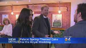 News video: Meghan Markle And Prince Harry Reveal Details Of Wedding Cake