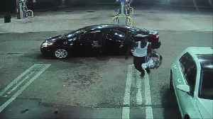 News video: Surveillance video at Royal Palm Beach gas station shows car thief drop off infant