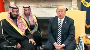 News video: Trump Welcomes Saudi Crown Prince as Friend of U.S.