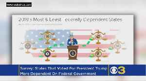 News video: Survey: States That Voted For Trump More Dependent On Federal Government Than Democratic States
