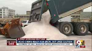 News video: Cincinnati gets another shipment of salt for late March snowstorm