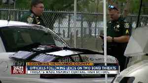 News video: All clear given after second bomb threat in two days at Central High School in Hernando Co.