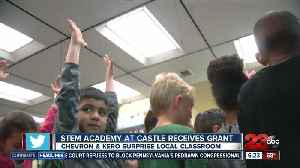 News video: Local classroom surprised with meteorology kits