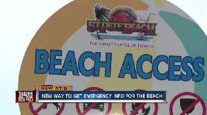 News video: New alert system launched to help keep Tampa Bay beaches community informed