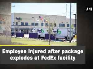 News video: Employee injured after package explodes at FedEx facility