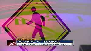 News video: Parents worry year-round Daylight Saving Time endangers students at bus stops