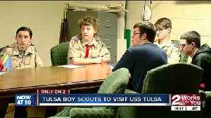 News video: Boy Scouts from Tulsa get exclusive look at USS Tulsa