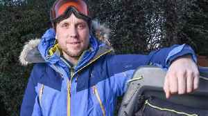 News video: Fast and the freezing: Builder smashes speed world record for skiing across 400-mile Siberian lake in -35c