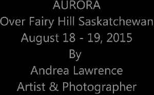 News video: Aurora - Northern Lights, time lapse on August 18 & 19, 2015