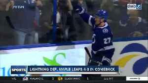 News video: Tampa Bay Lightning erase 3-goal deficit, rally past Toronto Maple Leafs 4-3