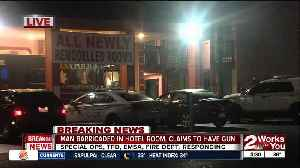 News video: Man barricaded in hotel room, claims he has gun