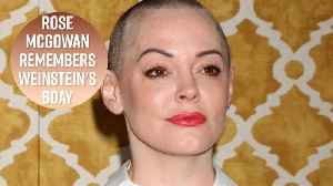 News video: Rose McGowan posts haunting birthday video to Weinstein