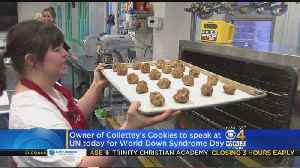 News video: 'Collettey's Cookies' Founder Visits United Nations For World Down Syndrome Day
