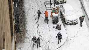 News video: Fourth Nor'Easter this Month Slams East Coast