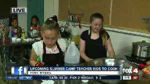 News video: Summer camp teaches kids how to cook -- 7am live report
