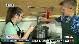 News video: Summer camp teaches kids how to cook -- 8am live report