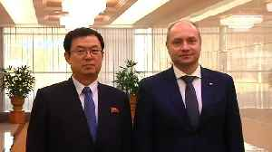 News video: Russian delegation arrives in Pyongyang