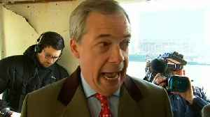 News video: Farage returns to Thames to make fisheries protest