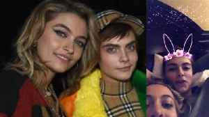 News video: Paris Jackson SNUGGLES Up WIth Cara Delevingne In Bed!: Are They Dating?