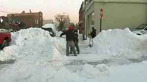 News video: 'Four'easter' Storm Closes Down East Coast