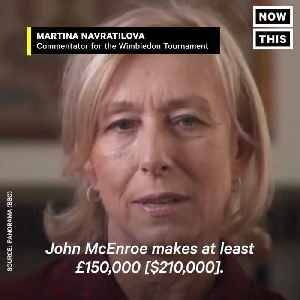 News video: Tennis Star Martina Navratilova Gets Paid Less Than Her Male Counterpart For Same Job