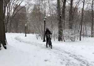 News video: Snow Blankets New York's Central Park as Fourth Nor'easter Hits East Coast