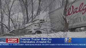 News video: Tractor Trailer Ban Continues On N.J. Interstates