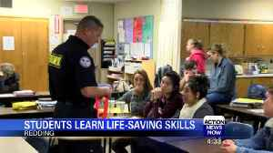 News video: Students get life-saving lesson after recent school shootings