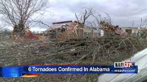 News video: 6 Tornadoes Confirmed In Alabama
