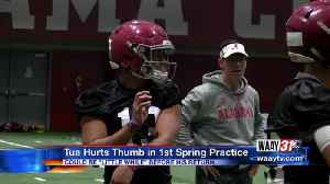 News video: TUA INJURED IN FIRST BAMA SPRING PRACTICE