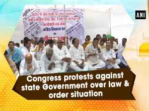 News video: Congress protests against state Government over law & order situation