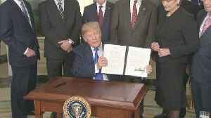 News video: Trump signs order to impose tariffs against China