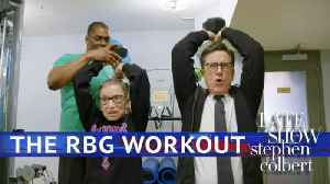 News video: Stephen Works Out With Ruth Bader Ginsburg