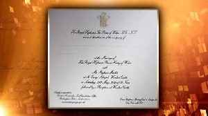 News video: First Look at Meghan Markle and Prince Harry's Wedding Invitation