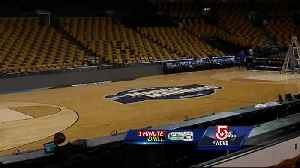 News video: 1 Minute Drill: Special floor for NCAA basketball at the TD Garden