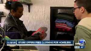 News video: No cash register here: Boutique store for those in need opens in Denver