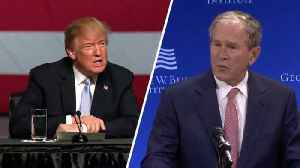News video: Trump Says Bush 'Didn't Have The Smarts' For International Relations