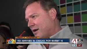 News video: Jayhawks arrive in Omaha for Sweet 16
