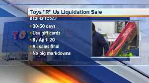 News video: What you need to know about Toys 'R' Us liquidation sale