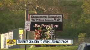 News video: Stoneman Douglas students will be required to carry clear backpacks provided to them at no cost