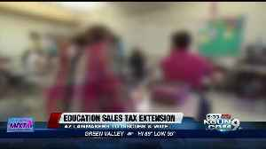 News video: Sales tax hike could become permanent funding for Arizona education