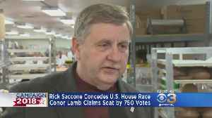News video: Rick Saccone Concedes U.S. House Race As Conor Lamb Claims Seat By 750 Votes
