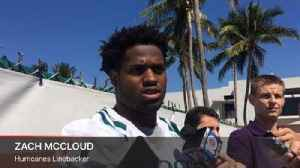 News video: Hurricanes linebacker Zach McCloud breaks down early spring drills at UM