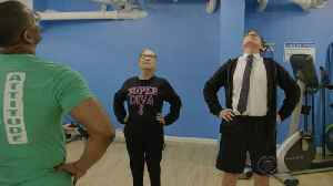 News video: Steven Colbert Hits The Gym With SCOTUS' Ruth Bader Ginsburg