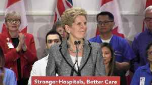 News video: Wynne says $822-million hospital boost aims to reduce wait times