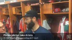 News video: Jake Arrieta makes Phillies spring debut
