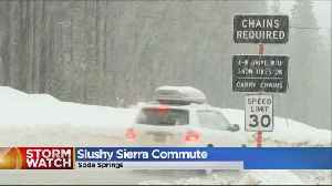 News video: Drivers Dealing With Mix Of Rain And Snow In The Sierra