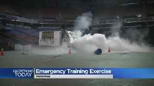 News video: Emergency Training Exercise Being Conducted At Sleep Train Arena
